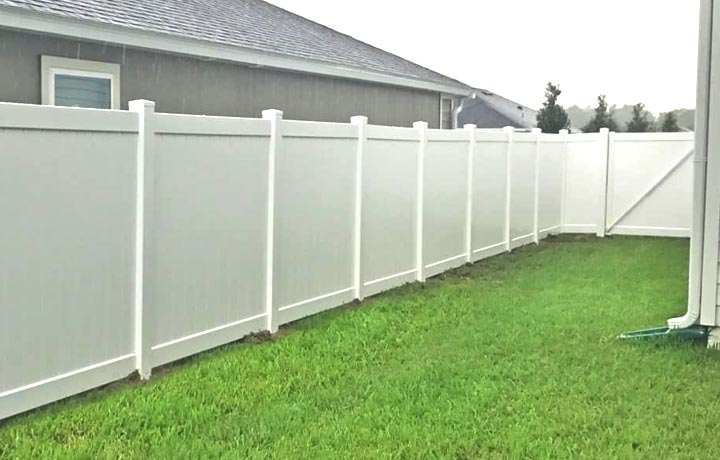 Vinyl fencing is maintenance free